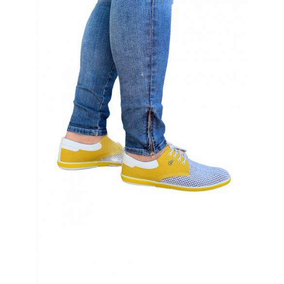 MCkop 304 Yellow&White férfi cipő
