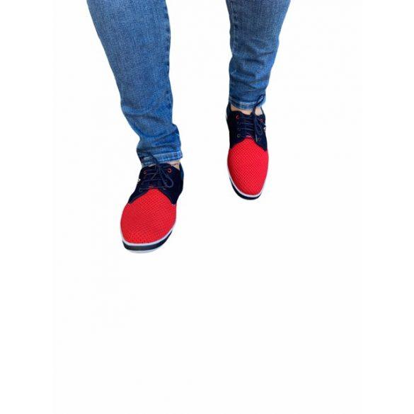 MCkop 304 Navy&Red férfi cipő