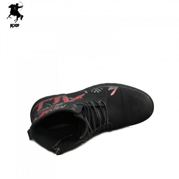 MCkop 856 14 Black festett férfi bakancs