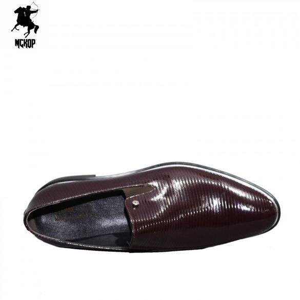 N564 lakk bordó férfi cipő
