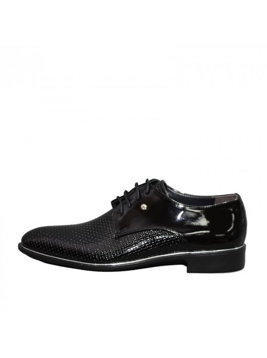 N571 lakk fekete férfi cipő
