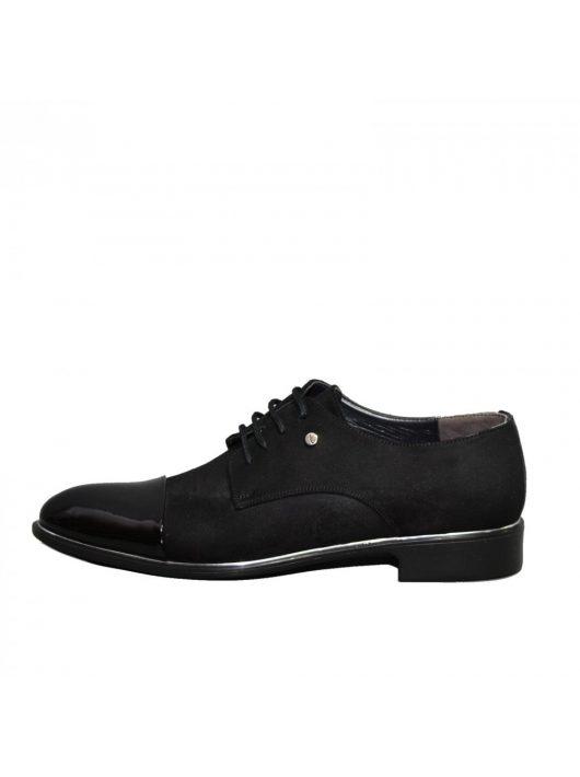 N573 lakk fekete férfi cipő