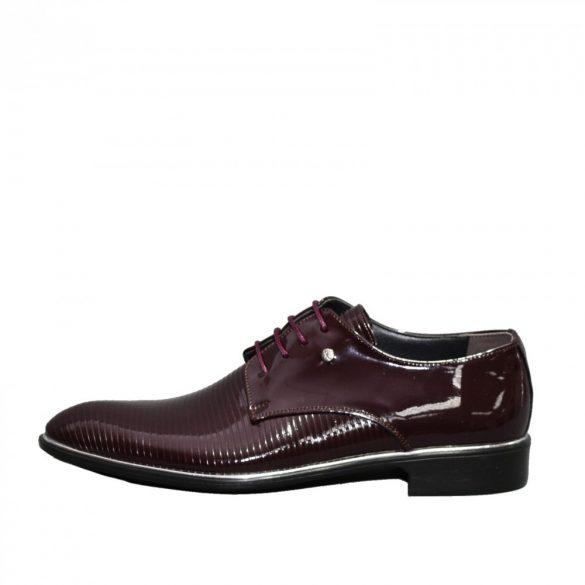 N574 lakk bordó férfi cipő