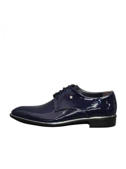 N574 lakk kék férfi cipő