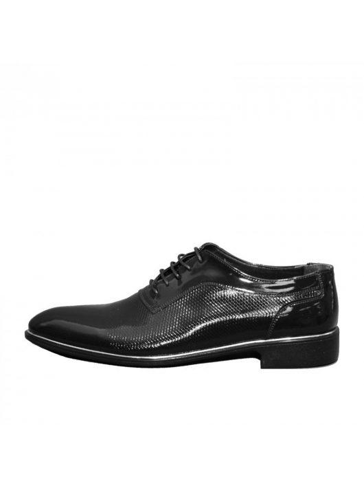 N580 lakk fekete férfi cipő