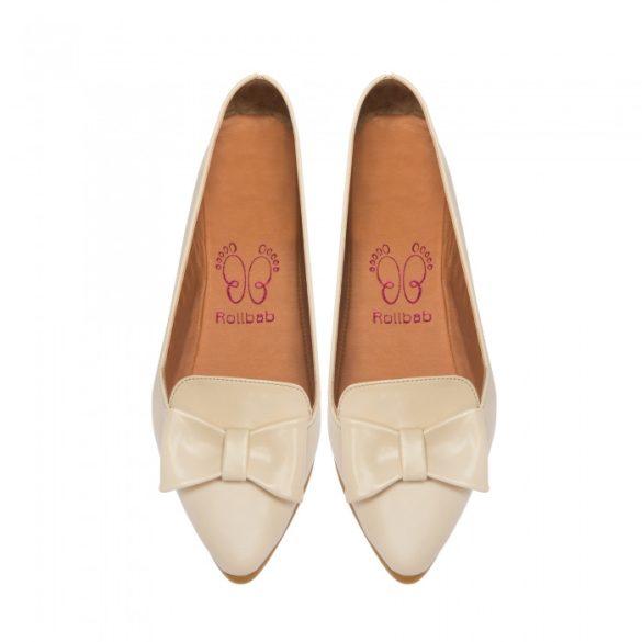 RB Beige Lucina női balerina cipő és táska